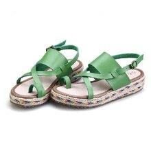 Модные женские Летние Сандалии Обувь Женщина 2017 Новый Соломы Рыбак Высокое Качество Римские Женская Обувь Sandalias Mujer женская обувь женская летняя обувь сандалии босоножки женские  новинки сандали на толстой