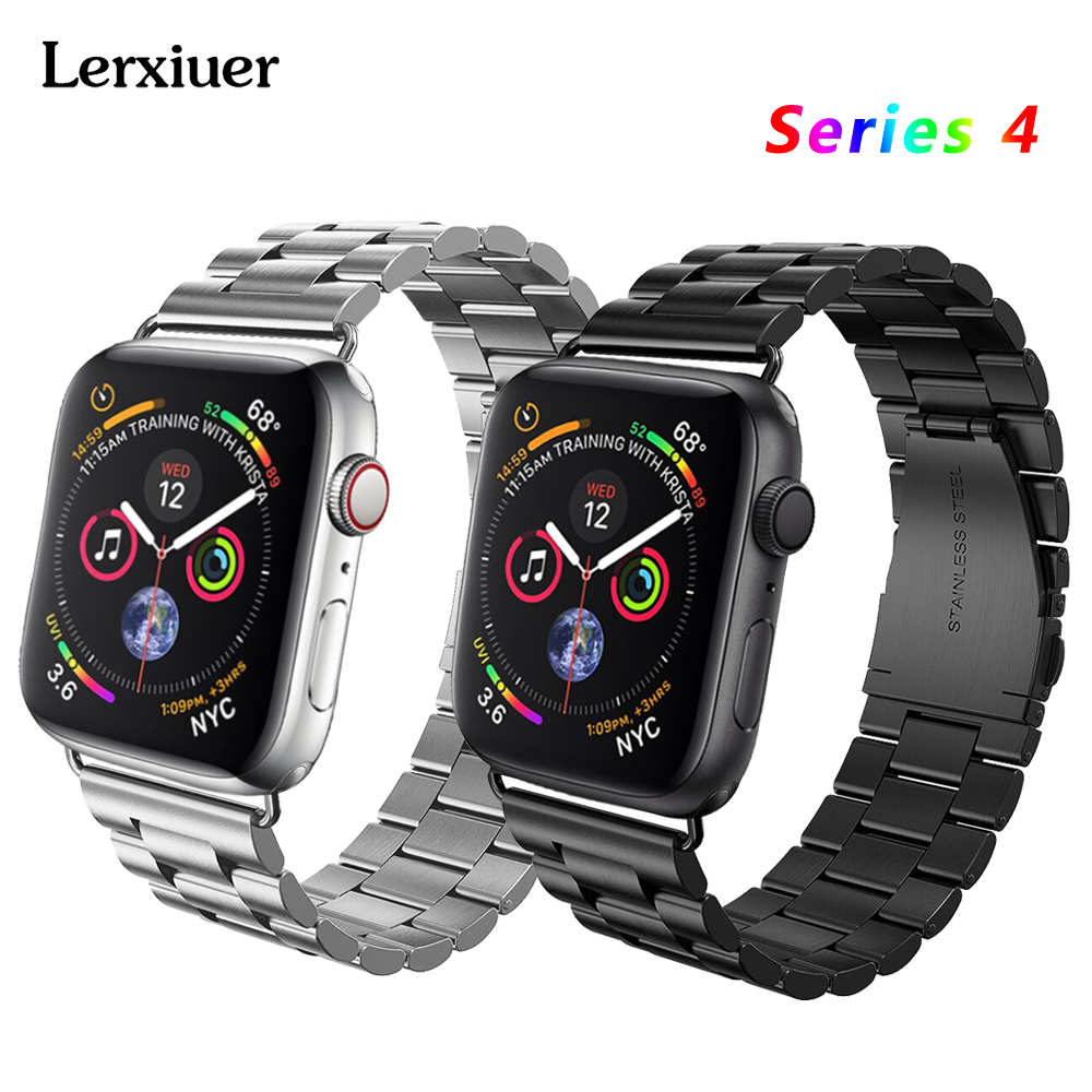 Stainless steel strap For Apple watch bands 4 44mm 40mm correa aplle watch 42 mm 38 mm Iwatch series 3/2/1 Bracelet wrist beltStainless steel strap For Apple watch bands 4 44mm 40mm correa aplle watch 42 mm 38 mm Iwatch series 3/2/1 Bracelet wrist belt