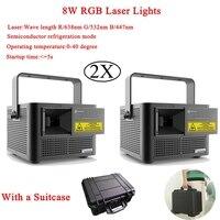 2 шт./лот высокое качество ночник 8 Вт RGB лазерные лучи одушевленност диско DJ вечерние музыка Лазерная этап эффект освещения проектор свет