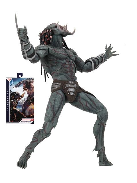 New NECA Original the Predator Armored Assassin PVC Action Figure 23cm Movie the Predator Figure Collectible Model Toy