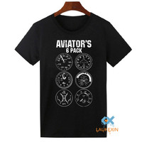 Aviator Six Pack T Shirt Funny Pilot Travel Humor Vacation Flight Novelty Mens T Shirt Camiseta