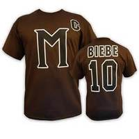 Football Jersey 10 Beibe 9 Banks Mystery Alaska Movie Football Jersey Stitched Men Black Brown Jerseys