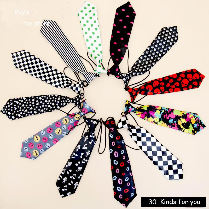1pc/lot 30 colors Boy Ties For Kid Baby Necktie Brand Print Dots Plaid Pattern Soctland School Uniform Red Black White Cravat