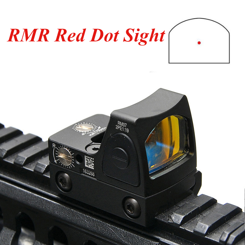 High Quality Mini RMR Red Dot Sight Collimator Glock Hunting Rifle Reflex Sight Scope Fit 20mm Weaver Rail For AirsoftHigh Quality Mini RMR Red Dot Sight Collimator Glock Hunting Rifle Reflex Sight Scope Fit 20mm Weaver Rail For Airsoft