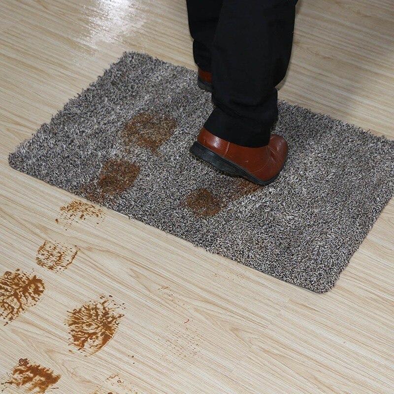 Tapis de porte intérieur Super absorbant Latex support tapis de porte antidérapant pour petite porte d'entrée à l'intérieur du sol tapis d'entrée en coton trappeur de saleté