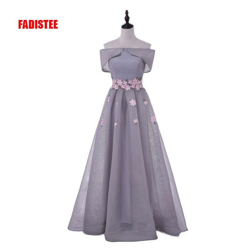 2017 Neue Ankunft Prom Party Kleider Vestido De Festa Appliques Boot-ausschnitt Kleid Elegante Spitze-up Stil Kleid