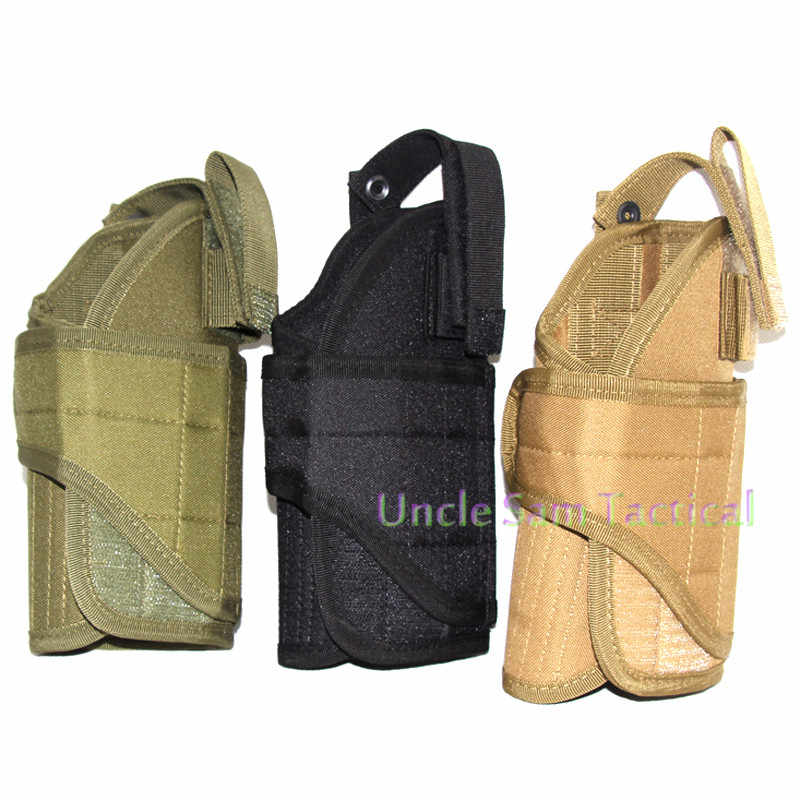 Right Handed Universal Military Adjustable Waist Belt Holster Airsoft  Hunting Pouch Tornado Multiple MOLLE Vest Pistol Holster