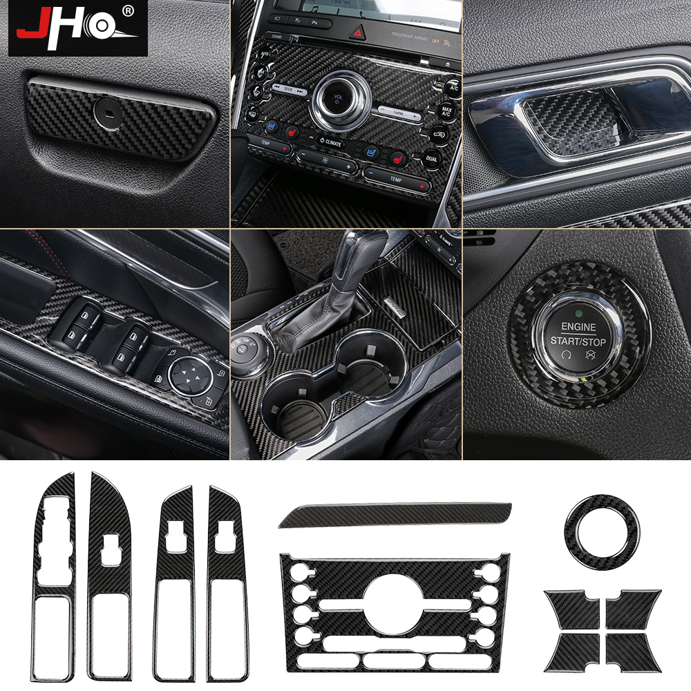Buy jho carbon fiber trim interior covers - 2013 ford explorer interior parts ...