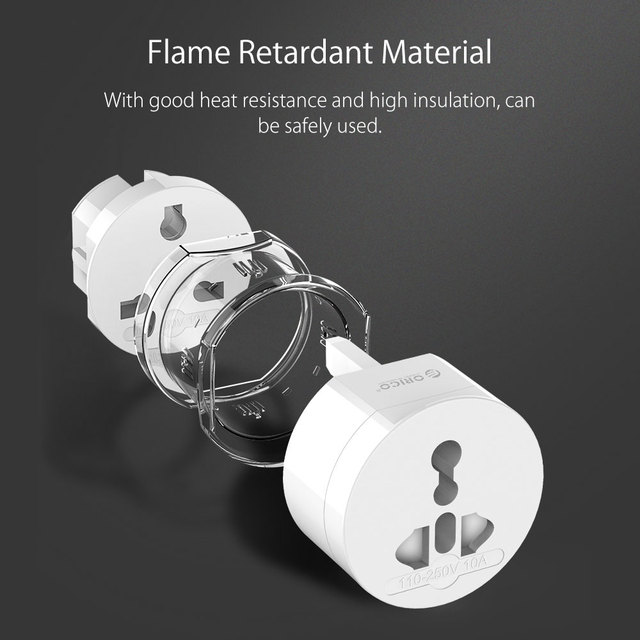 Universal Plug Electrical Adapter Portable Power Socket Outlet All in One Travel Converter Worldwide Use for US/UK/EU/AU
