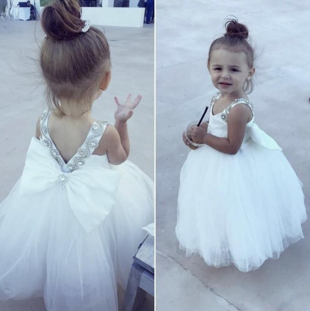 Weiß sparkly jewel strass blumenmädchen kleid liebsten prinzessin ...