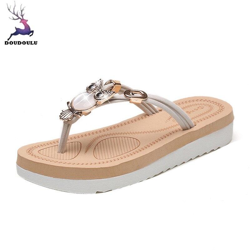 2018 Hot Sale Slippers Women Summer Owl Shoes Peep Toe Low -4231