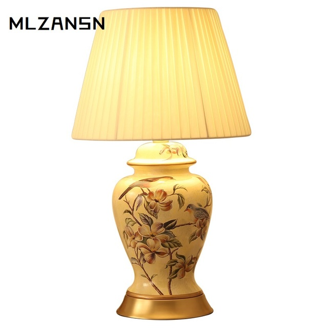Keramik Tisch Lampe Retro Kupfer Keramik Tisch Lampe Amerikanischen