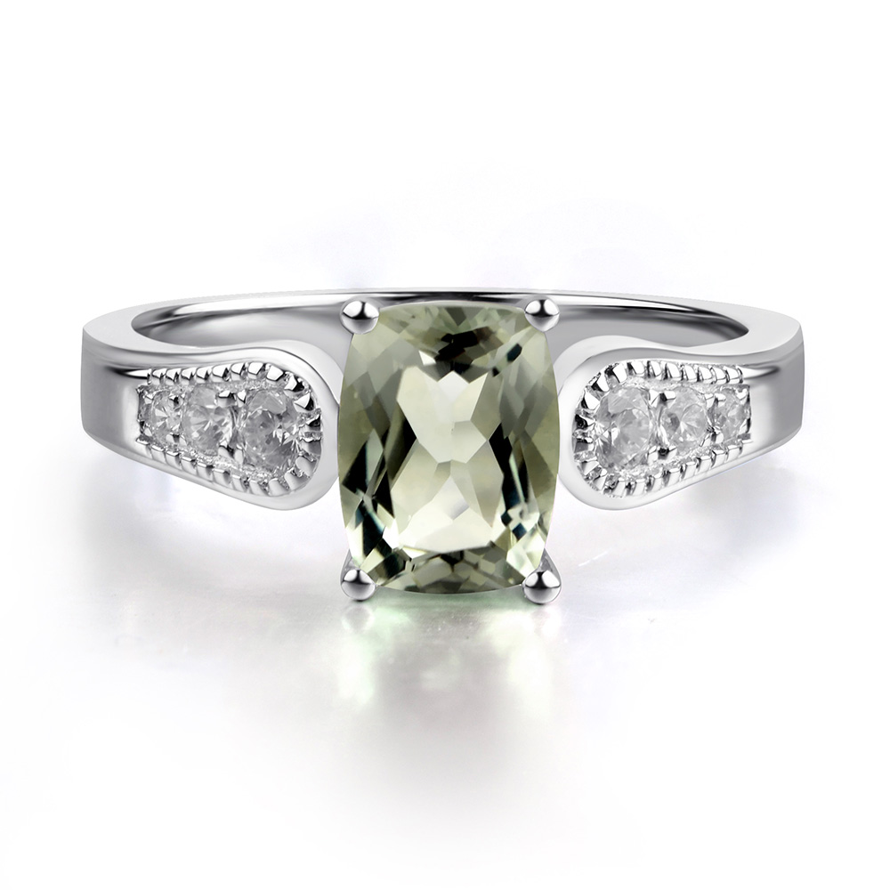 halo sterling square style product rings ring green silver amethyst