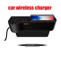 10w Qi Wireless Charger Station Storage Box Case For iPhone Fast Wireless Charging Car Phone Holder For Samsung quickly Charger|Car Chargers| |  -