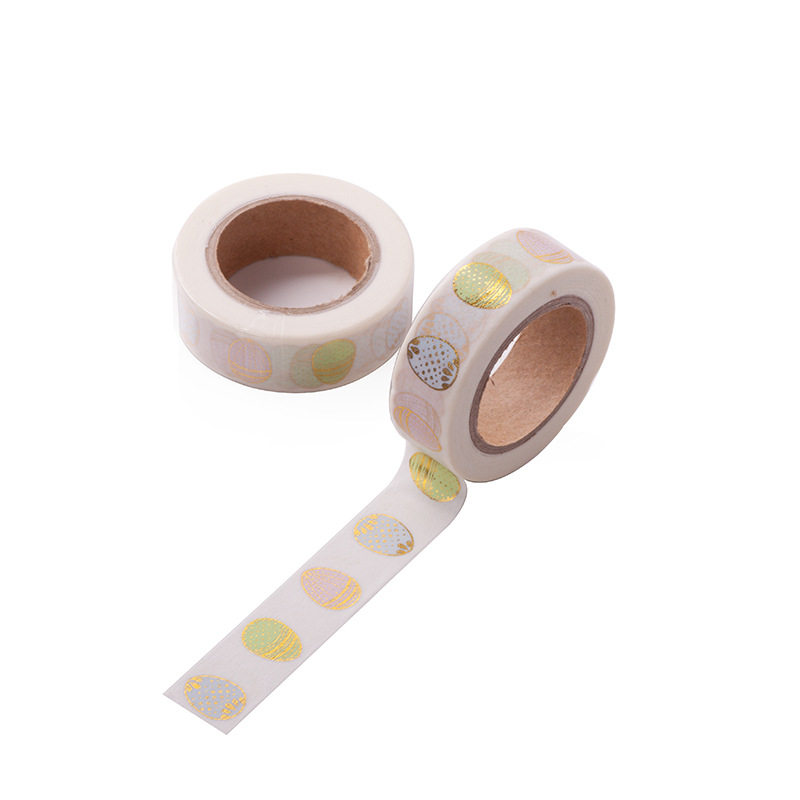Gold Egg Tape Easter Gold Foil Washi Tape Japanese Paper Kawaii Scrapbooking Masking Tape Adhesiva Decorativa Tape