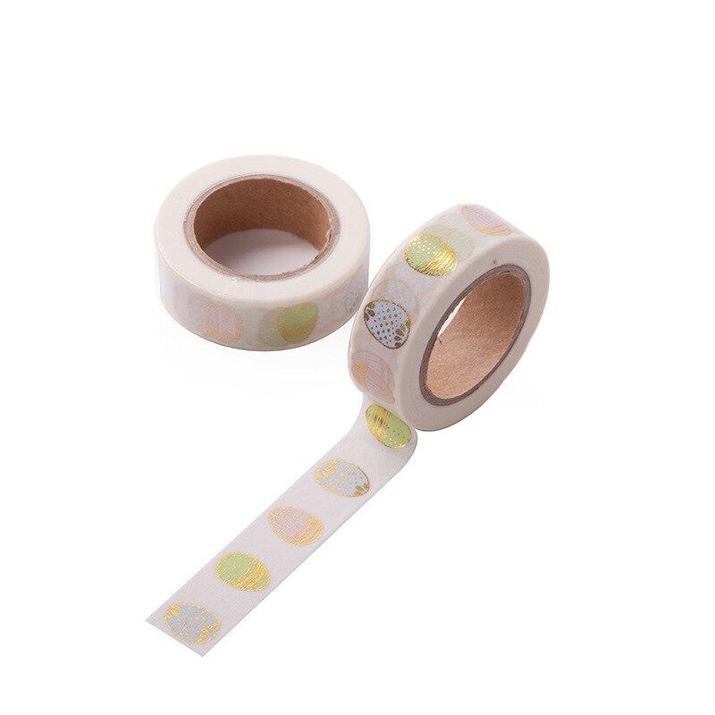 Gold Egg Tape Easter Gold Foil Washi Tape Japanese Paper Kawaii Scrapbooking Masking Tape Adhesiva Decorativa Tape