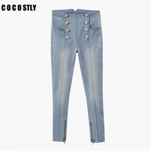 Stretch Blue Denim Pants High Waist Skinny Ladies Jeans Wome