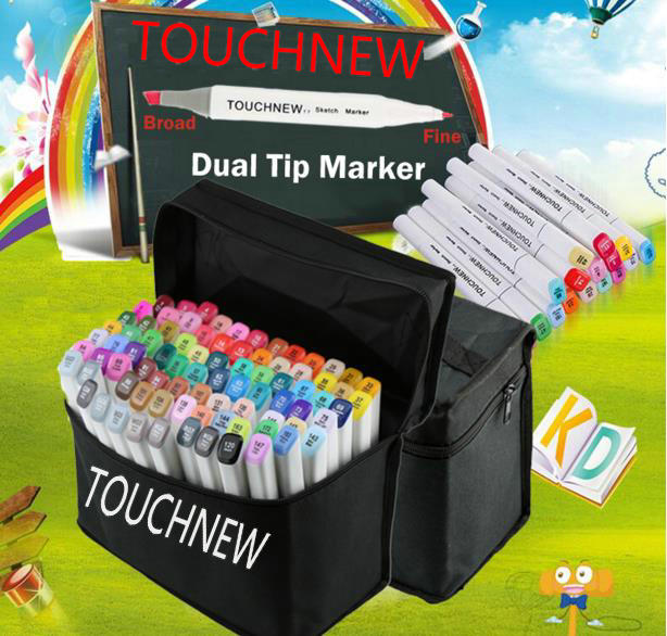 TOUCHNEW 30 40 60 72 80 168 Colors Markers Pen Painting Manga Art Marker Set Stationery Pen For School Sketch Markers touchnew 30 40 60 80 168 colors artist dual headed marker set manga design school drawing sketch markers pen art supplies