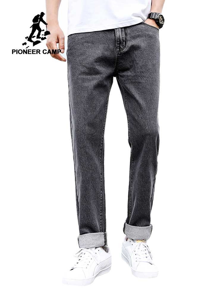 Pioneer Camp 2019 New Mens Fashion Black Blue Jeans Men Casual Stretch Jeans Classic Denim Pants For Male Trousers ANZ908095