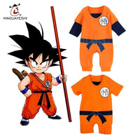 GOKU Newborn Baby Rompers Infant Baby Kids Clothes Dragon Ball Toddler Jumpsuit For Bebes Halloween Costume