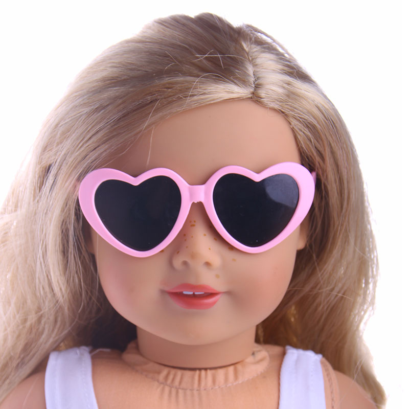 Heart-shaped Frame Fashion Glasses Fit For American Girl Doll 18 inch American Girl Accessories free shipping doll accessories 5 colors round shaped round glasses glasses sunglasses suitable for 18 inch american girl doll