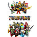 8PCS/set New Enlighten 1501 AB Figures One of China Romance the Three Kingdoms Building Blocks Toys For Children Lepin
