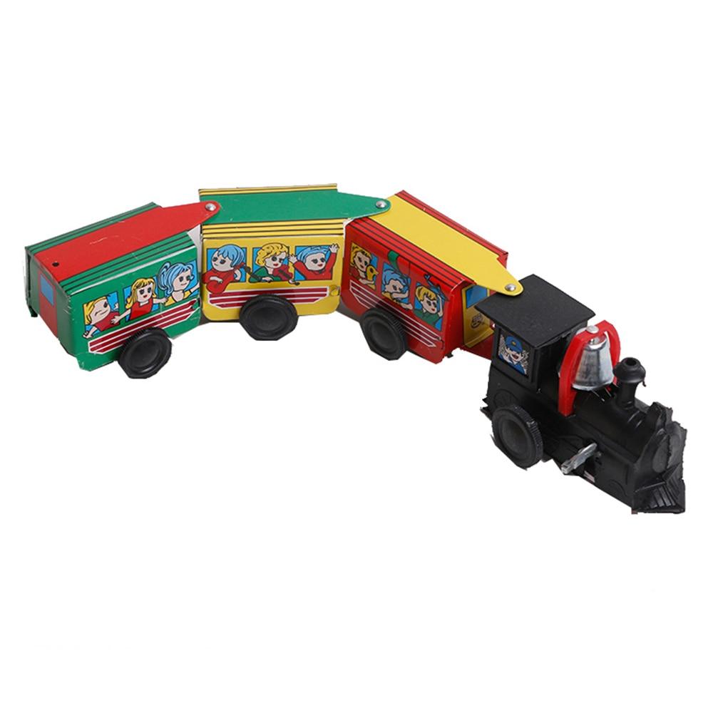 Игрушечный поезд с цепочкой, железная заводная коллекция, экологическая возможность для начала, крутая старинная оловянная игрушка, детские игрушки, подарок