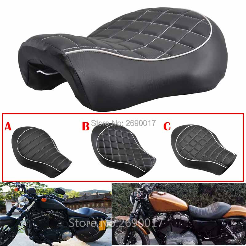 Wide Low-Pro Solo Seat Fits For Harley Davidson Sportster XL883 1200 N 48 2005-2013 New