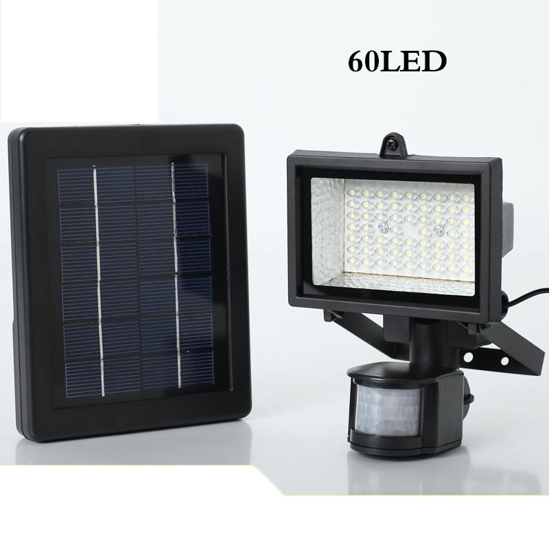 Lampe à énergie solaire éclairage domestique corps induction led lampe de projet 60 polysilicium