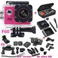 "Спорт Камера 2.0 ""4 К 1080 P HD wifi Камеры F60 Спорт DV действий камеры водонепроницаемый 30 м перейти камеры pro стиль очень аккумулятор + сумка"