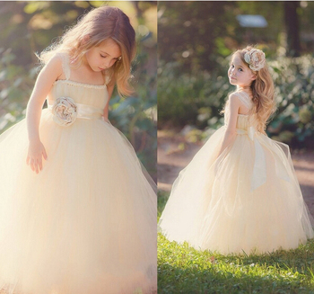 Ball Gown Flower Girl Dresses Brand New Ball Party Pageant Dress for Wedding Little Girls Kids/Children Communion Dress children girls new luxury birthday wedding party ball gown dress kids fashion pink blue color front shor back long pageant dress