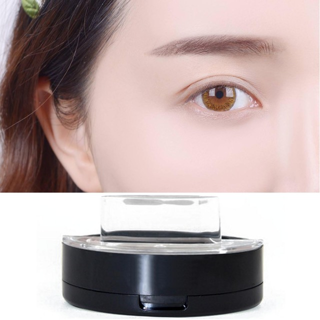 Portable Eyebrow Powder Easy Makeup Sweatproof Powder Stamp Eyes Cosmetic Eye Brow Powder for Natural Perfect Eyebrow Shape 4