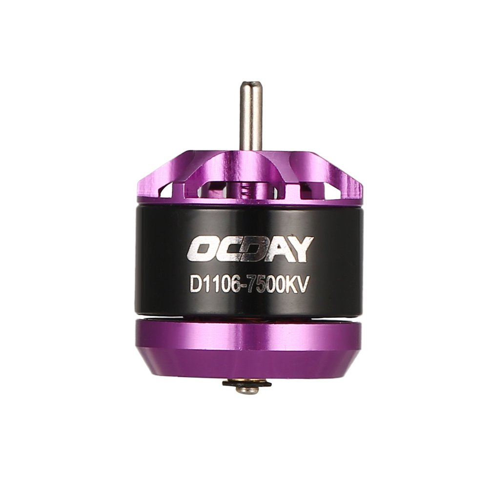 цена на OCDAY Original 4pcs 1106 7500KV 3-4S Brushless Motor for 60mm 70mm 80mm 90mm 100mm Mini RC Racing Drone RC FPV Quadcopter