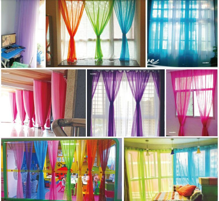 2 Panels 140cm*245cm Hot Pair Europe Gauze Tulle Sheer Curtains Net Voile  Ready Made Curtain For Living Room Windows In Curtains From Home U0026 Garden  On ... Part 98
