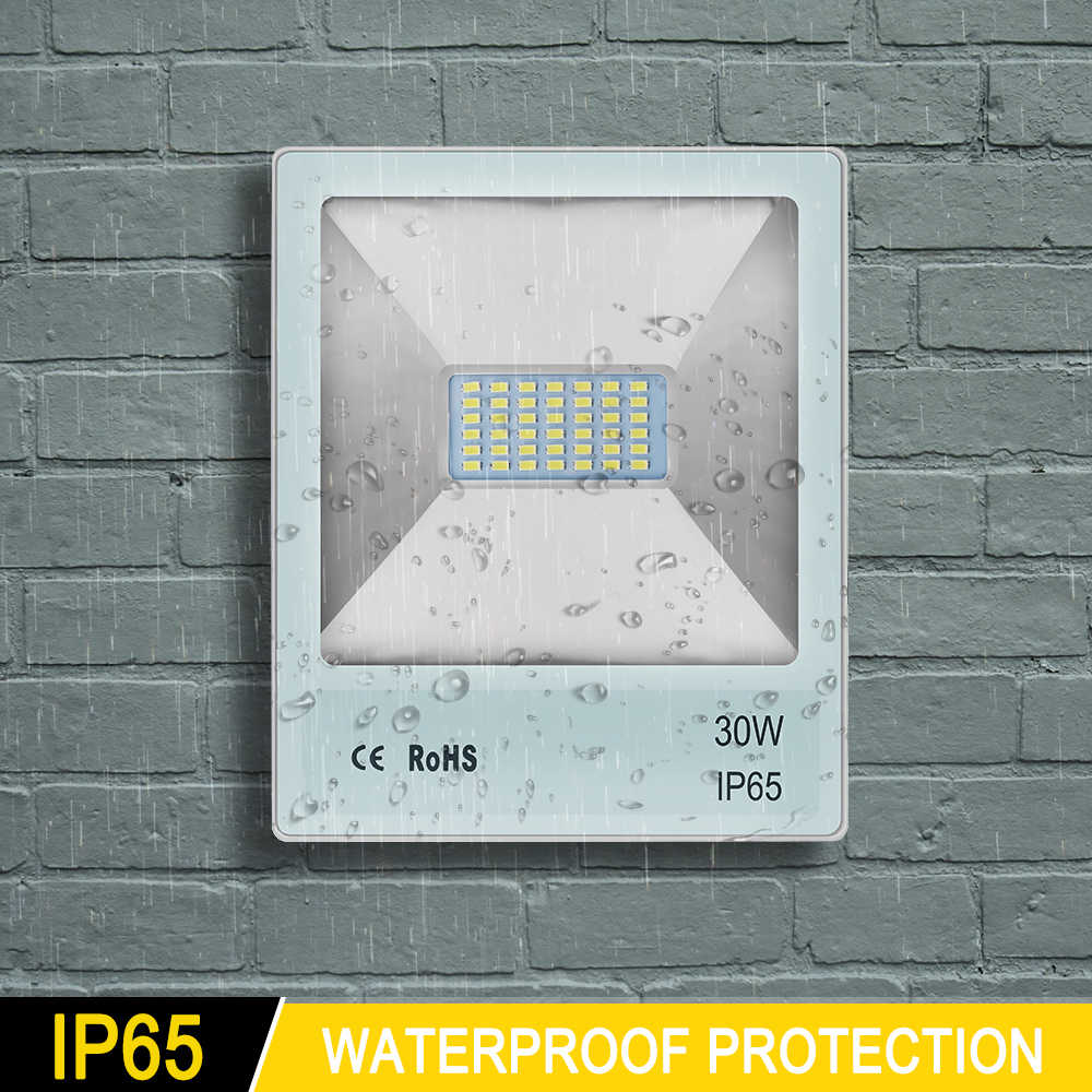 10W 20W 30W 50W 70W 100W luz para inundación al aire libre led el proyector ip65 impermeable jardín lámpara proyecto reflector de luz