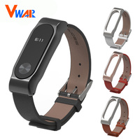 Original Mijobs Mi Band 2 Strap Xiaomi MiBand 2 Lether Strap Metal Frame Bracelet Smart Wristband
