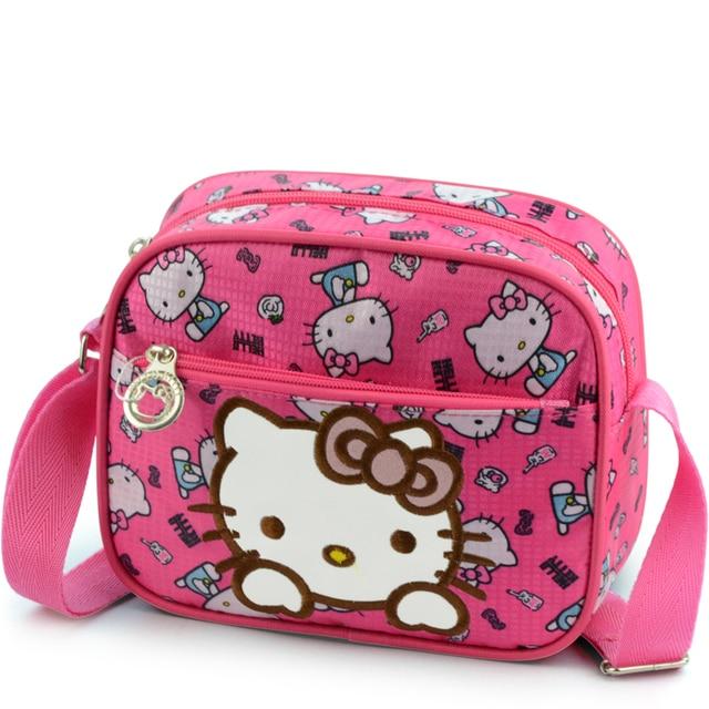 61d631ce2 New Girls Cute Shoulder Bag Children Cartoon Hello Kitty Bowknot Oxford Handbag  Girls Mini Handbag Kids Bag Women Crossbody Bags