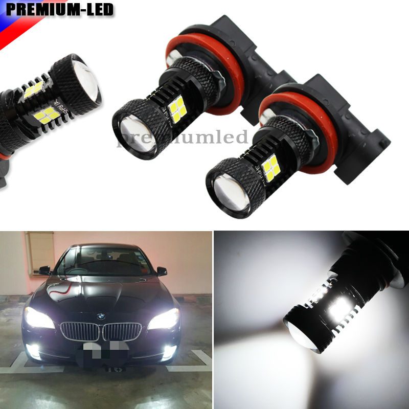 iJDM 6000K Xenon White Extremely Bright 3030 Chipsets H11 H8 H9 H16JP LED Bulbs  For Fog Lights or car DRL cn360 4pcs extremely bright 3014 chipsets 194 168 2825 w5w t10 new style led bulbs xenon white 2 years warranty included