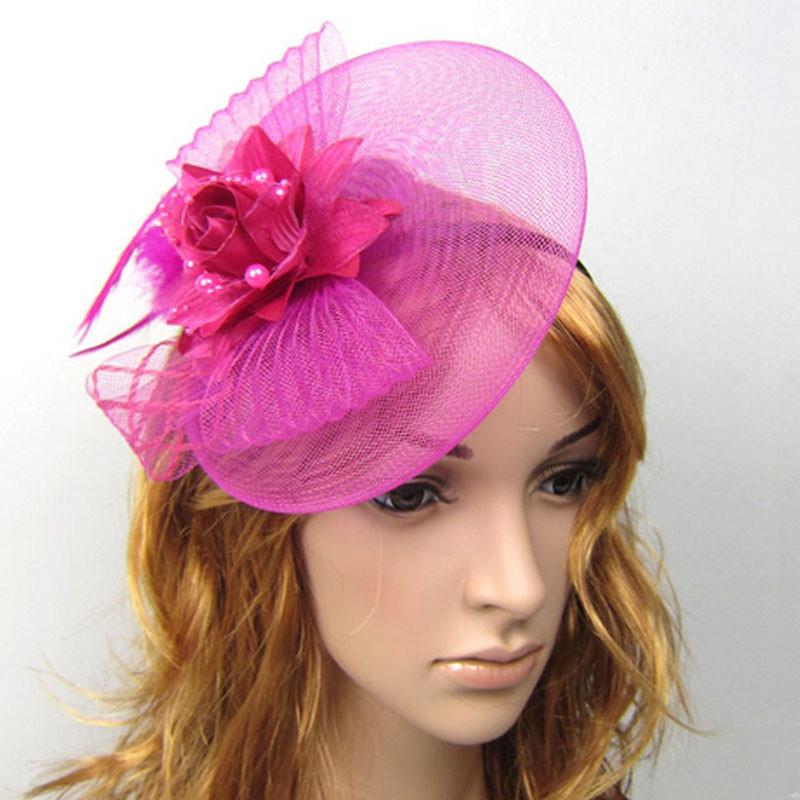 nuevas mujeres de encaje de flores nia bowknot diadema top hat sombreros adultos boda accesorios
