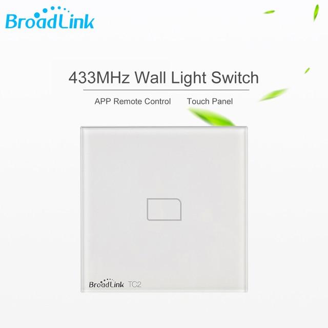 Broadlink TC2 1Gang Smart Wifi Wireless Controlled 433Mhz Light Switch  Board Square Shape Touch Screen Wall