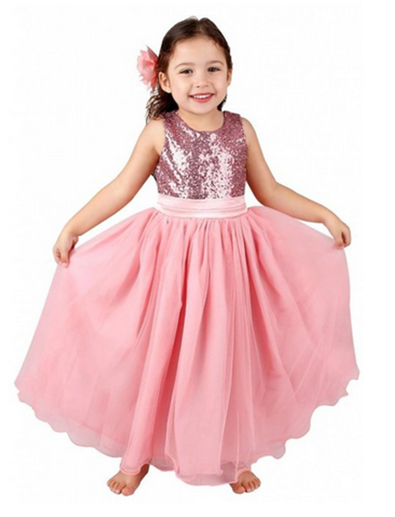 8dfc1f1ae Flower girl dresses new year birthday christmas long belt sequin ...