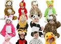 Recém-nascidos Animais Traje Do Bebê Romper Com Capuz de Flanela Criança Macacão Roupas Infantis Romper Quente Do Bebê Da Menina Do Menino Terno Frete Grátis