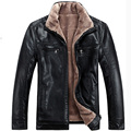 Осень и зима мужчины в искусственная кожа куртка мужчины искусственный мех куртки человек мужчины короткая пальто размер M-4XL