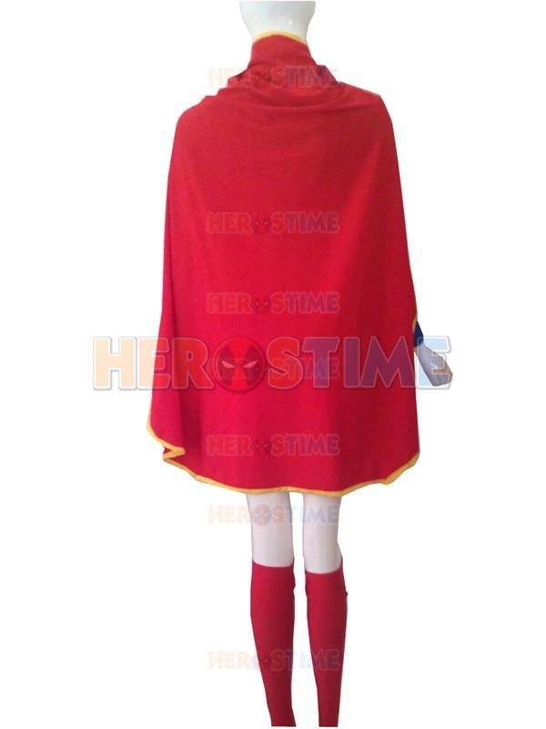 Supergirl Costume Halloween Cosplay Leopardo rojo y azul diseño - Disfraces - foto 5