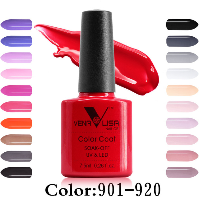 Free Shipping Nail Art Design Manicure Venalisa New 60 Color 7.5Ml Soak Off Gel Polish LED UV Gel Nail Polish Gel Lacquer