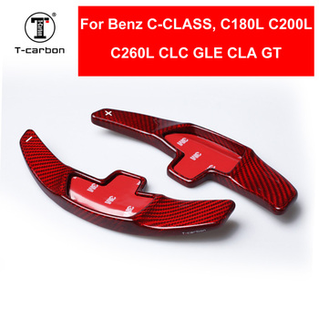 Car styling Real Carbon Fiber Steering Wheel Shift Paddles Extension For NEW Mercedes-Benz C-Class C180L C200L C260L CLC GLE CLA