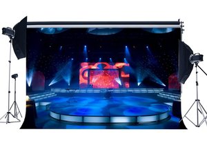 Image 1 - Luxurious Stage Show Backdrop Band Concert Backdrops Bokeh Shining Stage Lights Lantern Interior Photography Background