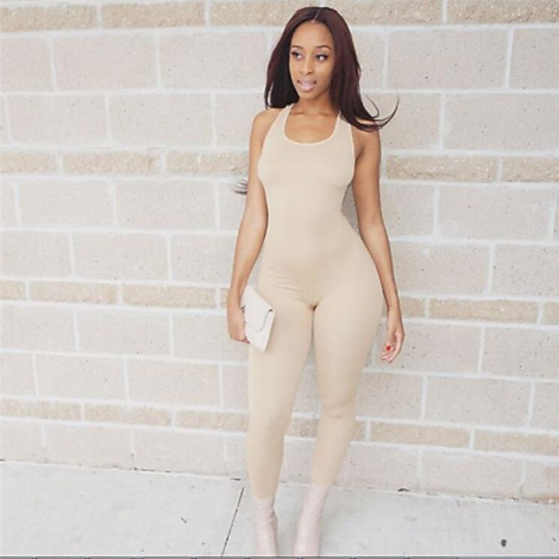 Women Casual Fitness Bodycon Pants 2017 Lady Sportswear Tight Jumpsuit Trousers