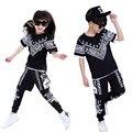 Verano Niños de Hip Hop Estilo de Sistemas de la Ropa Niños Niñas Moda Casual 3 unids Trajes Ropa de Niños Twinset