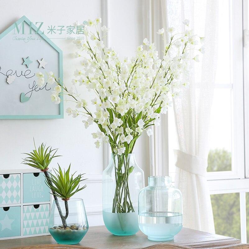 Miz 1 Piece Glass Vase Modern Vases Plant Pot For Home